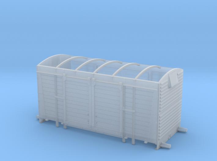 BR/LMS 12 ton Pallet Van body, no roof - 4mm scale 3d printed