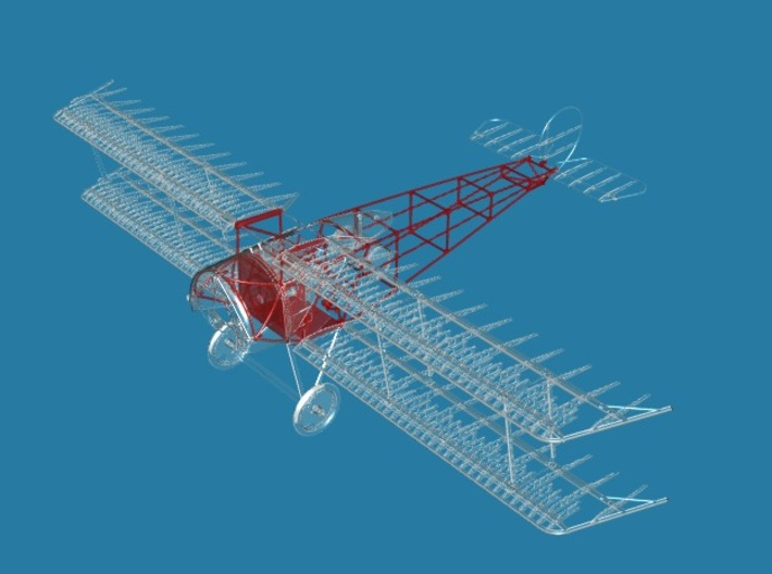Fokker D.III Fuselage Mid/Late 1/32 3d printed only parts shown in red are included