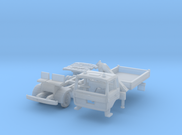 Club-of-4 Three-way side tipper (British N 1:148) 3d printed