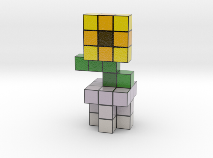SUNFLOWER VOXEL FLOWER DECORATION 3d printed