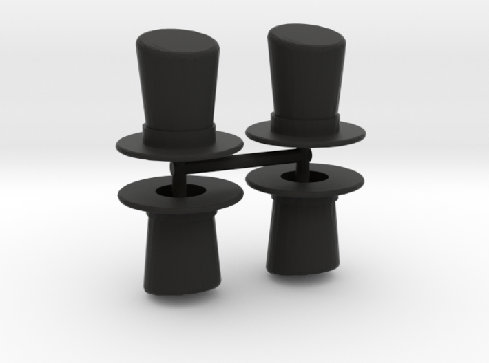 Top Hat Boardgame Counters (x4) 3d printed