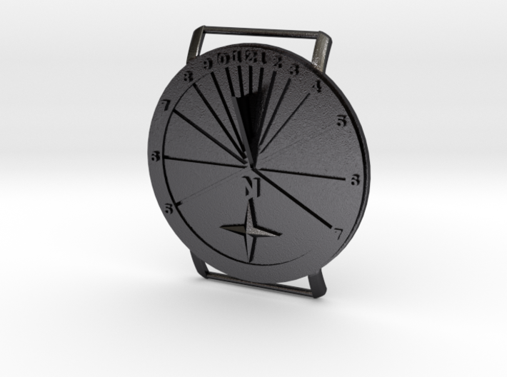 27.75N Sundial Wristwatch With Compass Rose 3d printed