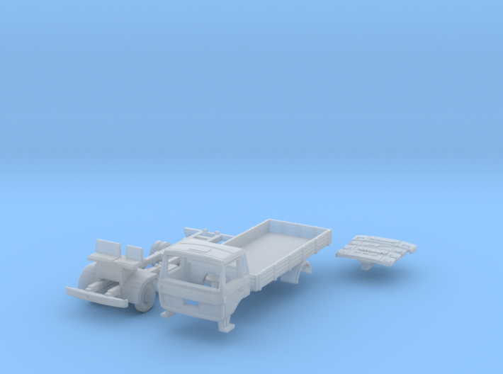 Vierer-Club-LKW Pritsche (TT 1:120) 3d printed