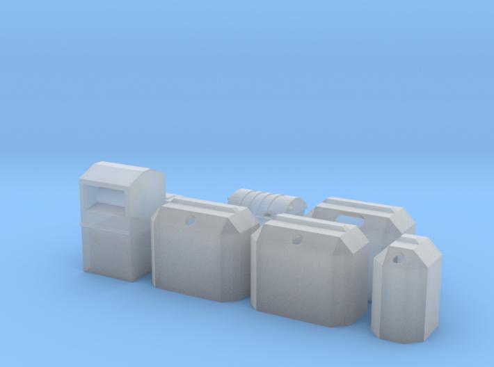 Set Müll Spur N 3d printed