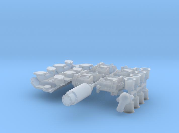 1/25 SBC Weber Intake System 3d printed