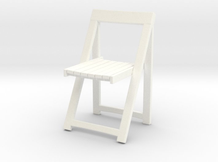 Folding wooden chair 05. 1:24 Scale 3d printed