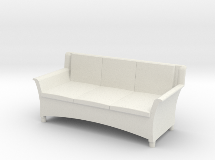 1:48 Wicker Couch 3d printed