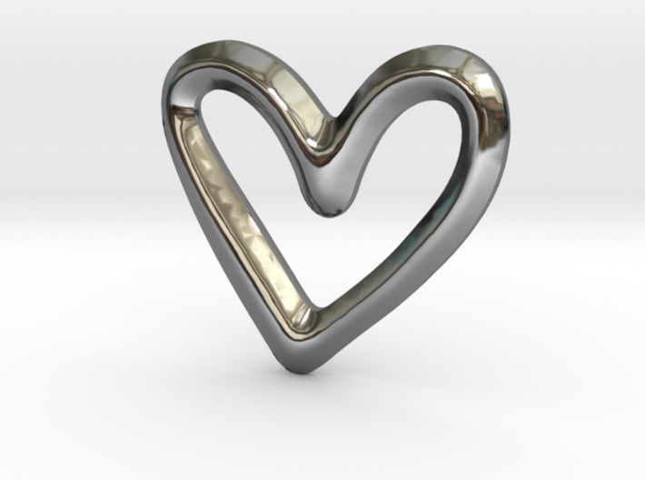 Open Heart Charm - 11mm 3d printed
