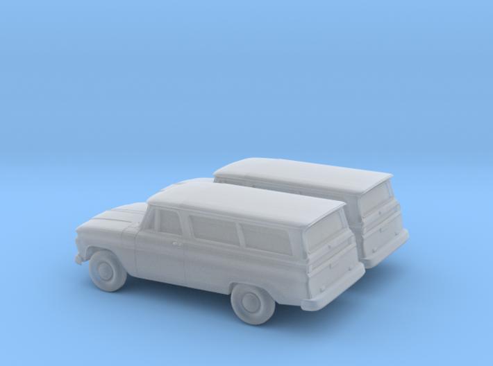 1/200 2X 1966 Chevrolet Suburban 3d printed