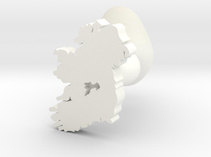 Offaly Cufflink 3d printed