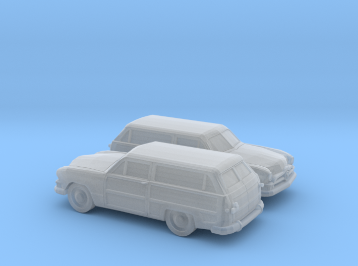 1/160 2X 1950 Ford Fordor Station Wagon 3d printed