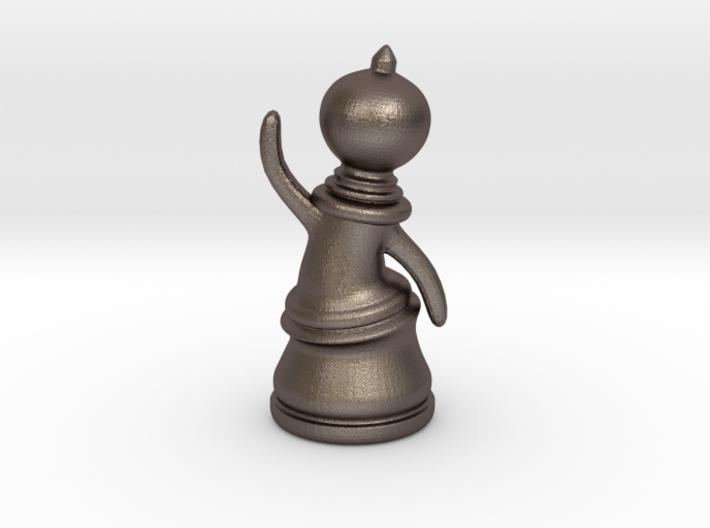 Waving Pawn 3d printed