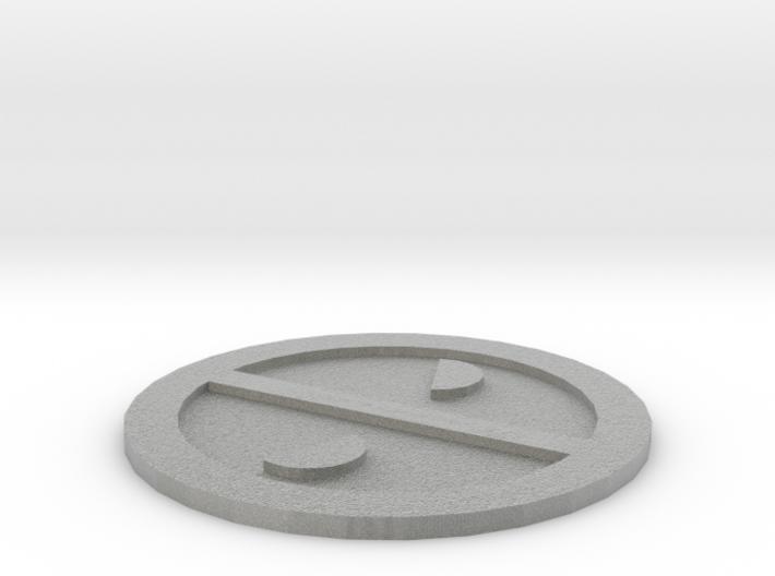 Deadpool Logo 3d printed