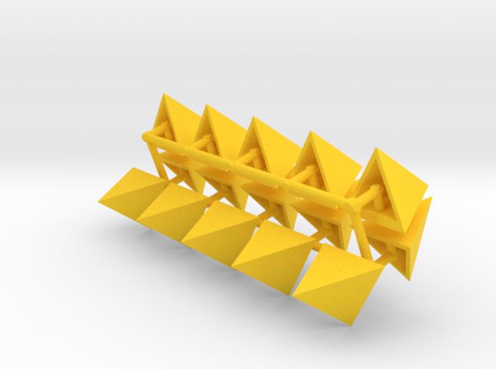 Tetrahedron Capstones (x15) 3d printed