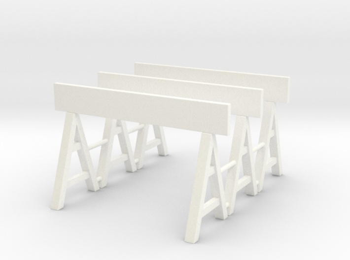 Traffic Barrier 01. 1:24 Scale 3d printed