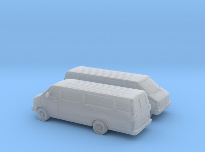 1/160 2X 1986-93 Dodge Ram Van 3500 3d printed