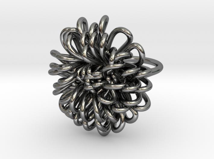Ring 'Wiener Blume', Size 8 (Ø 18.2 mm) 3d printed