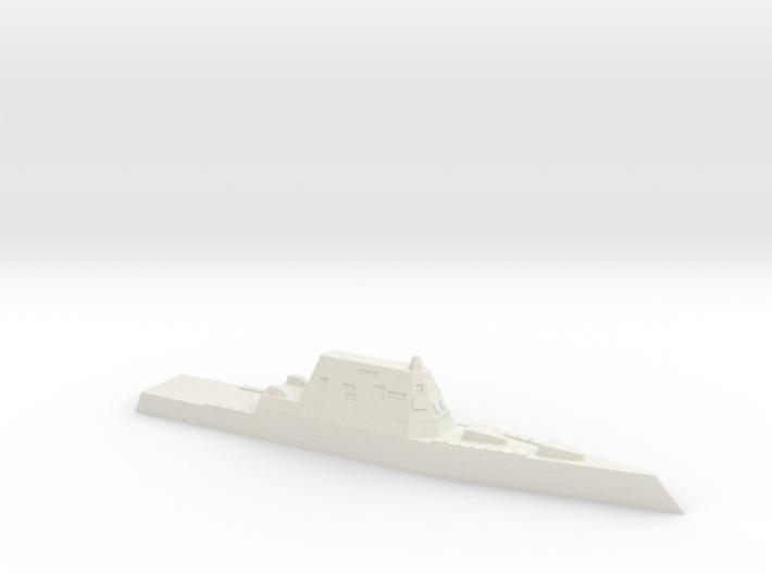 USS Zumwalt, 1/1800 3d printed