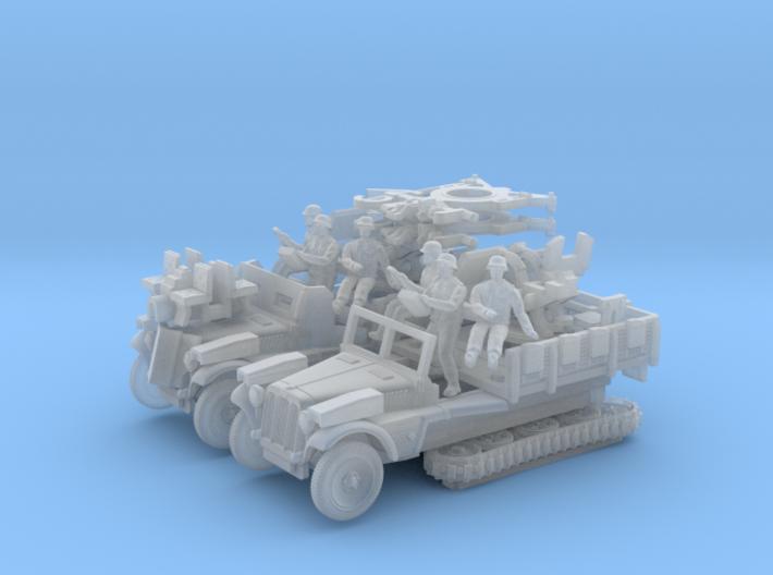 Sd.Kfz 10/5  FLAK 38  (2 pack) 3d printed