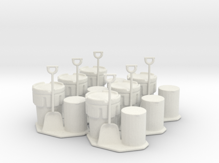 6 Drum, Overpack, and Shovel Sets, 1:64 3d printed