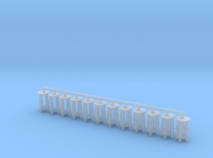 HO Scale short bar stools x12 3d printed