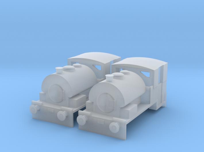 N gauge Bagnall 0-4-0ST Pack x2 3d printed