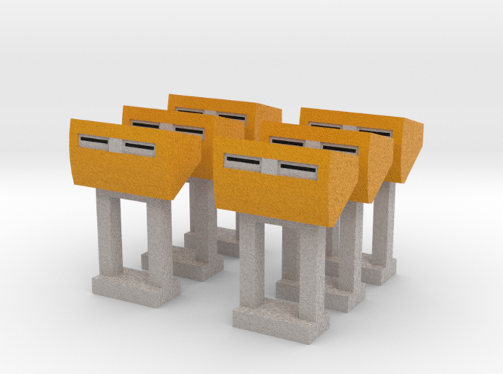 PostNL Brievenbus 1:87/1:160 (H0/N) 3d printed