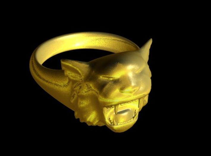 Awesome Tiger Ring Size 13 3d printed