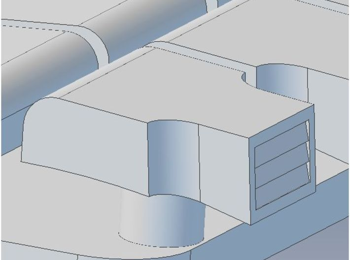 Garland Vent Arch Roof N 3d printed