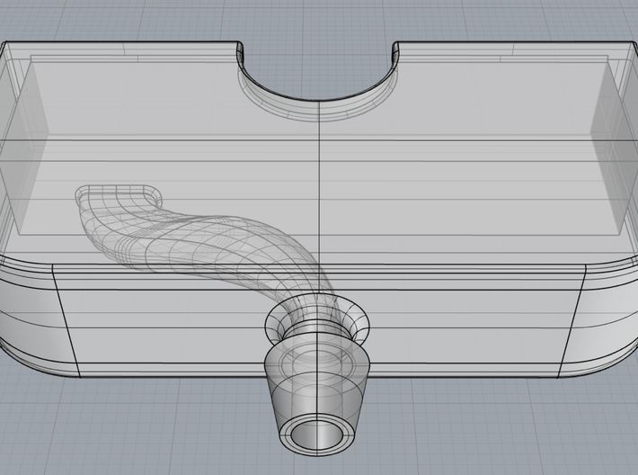 iPhone Stethoscope Attachment 3d printed CAD Rendering