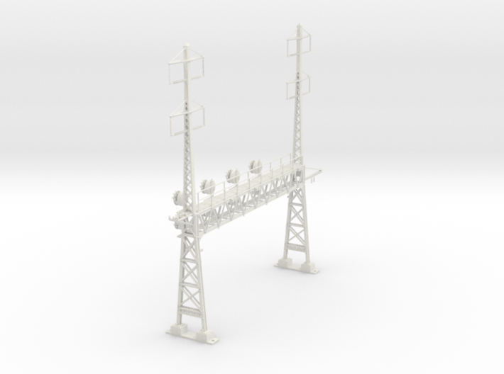 HO Scale PRR W-signal LATTICE 4 Track W 2-2 PHASE 3d printed