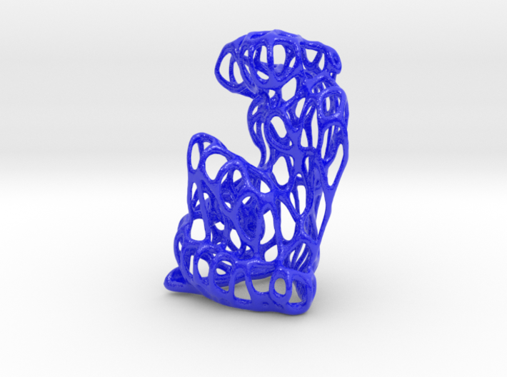 Nu bleu interpretation VORONOI 3d printed