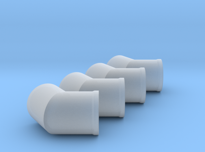 """HO scale 36"""" RCP 30° angle fittings 3d printed"""