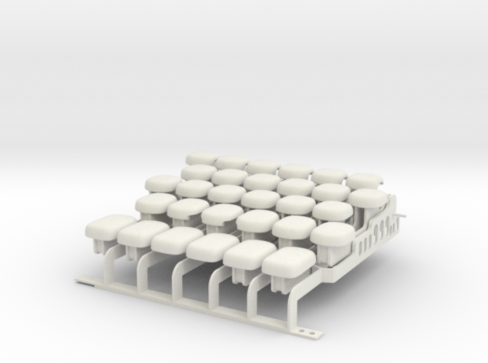 Drop-on Jankó Piano Adaptor - Whole Octave Set 3d printed