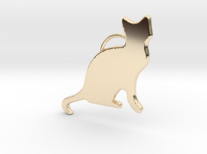 Cat Sitting 3d printed