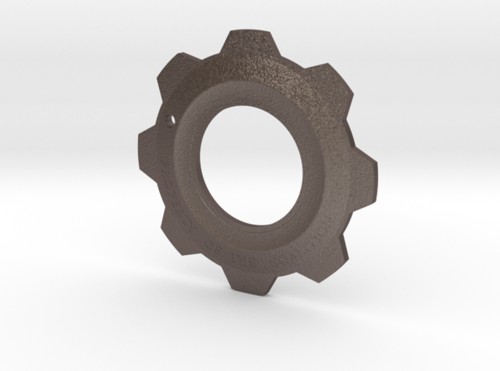 Gears of War Cog Tag v2 3d printed