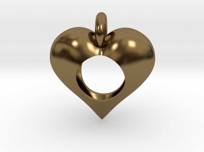 Hole in My Heart Pendant 3d printed