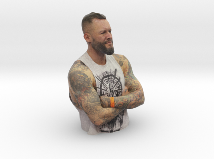 Mike Davenport - Heroes of Tattoo 200mm bust 3d printed