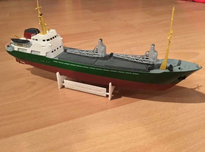 Coaster 840, Display Stand (1:200) 3d printed total coaster model (assembled, painted)