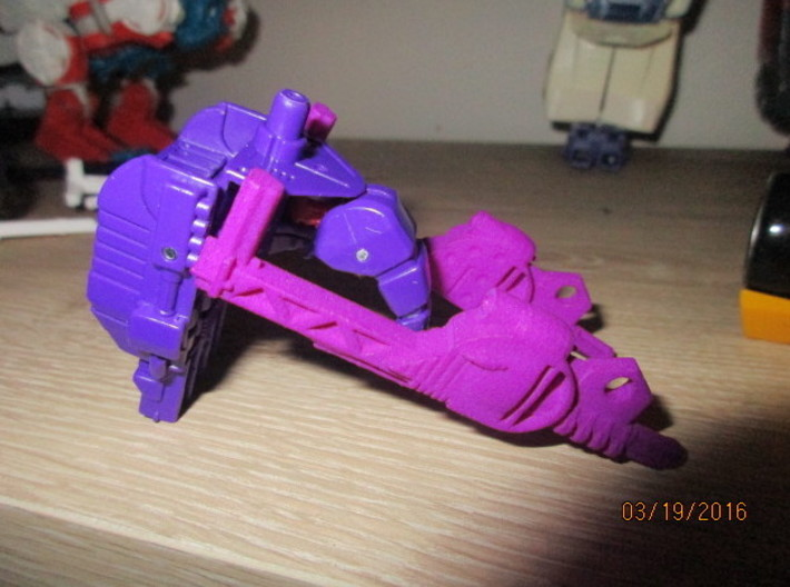 Menasor Brace Cannons 3d printed Attach as shown here to form a backpack for Dragstrip