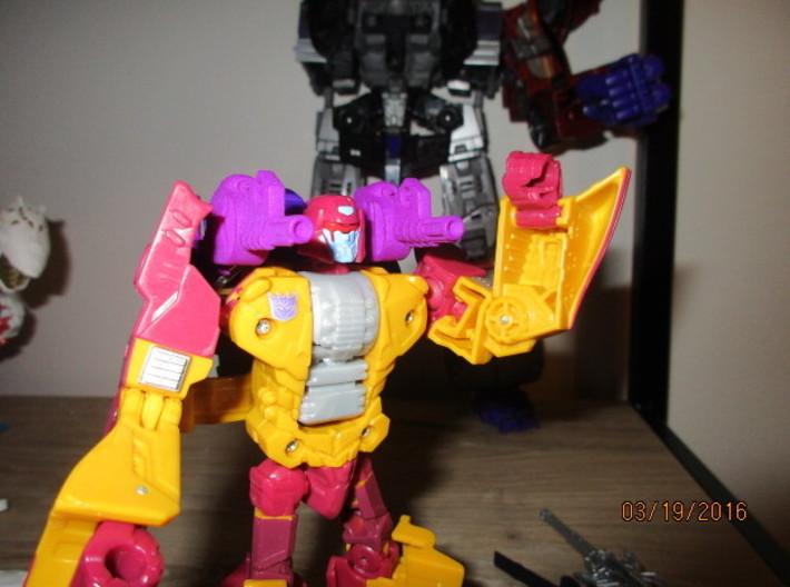 "Menasor Brace Cannons 3d printed ""Ready for combat"""
