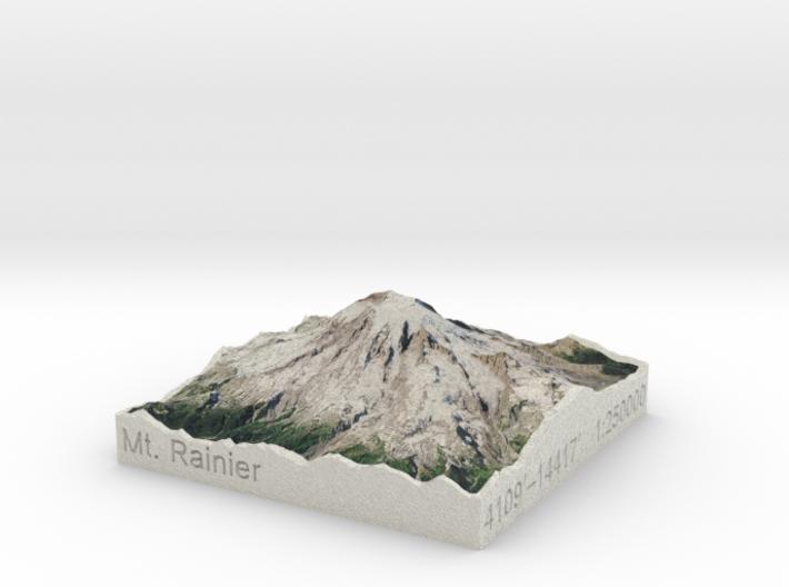 Mt. Rainier, Washington, USA, 1:250000 Explorer 3d printed