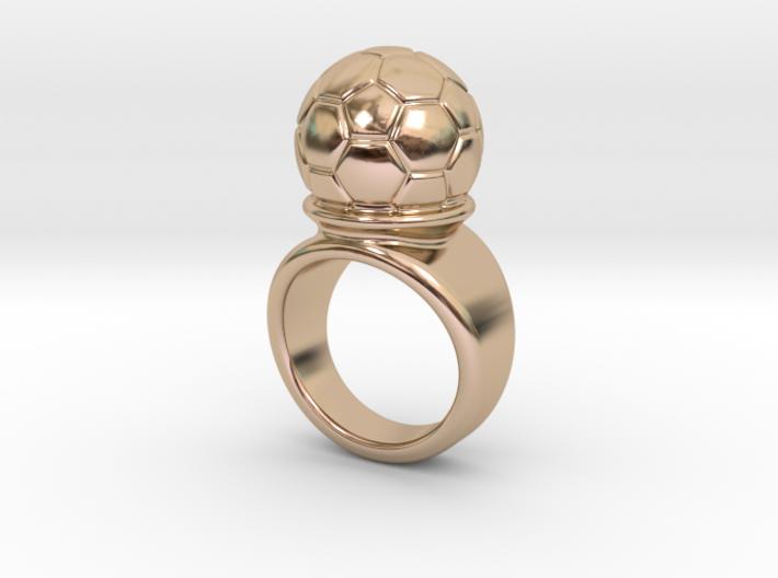 Soccer Ball Ring 14 - Italian Size 14 3d printed