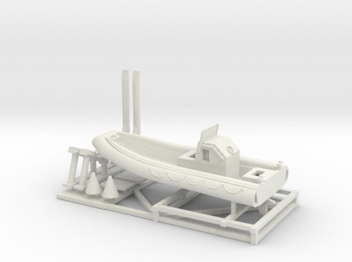 1/72 Scale 23 foot Navy Boat RHIB (RIB) 3d printed