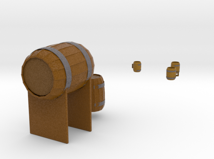 Barrel and tankards 3d printed