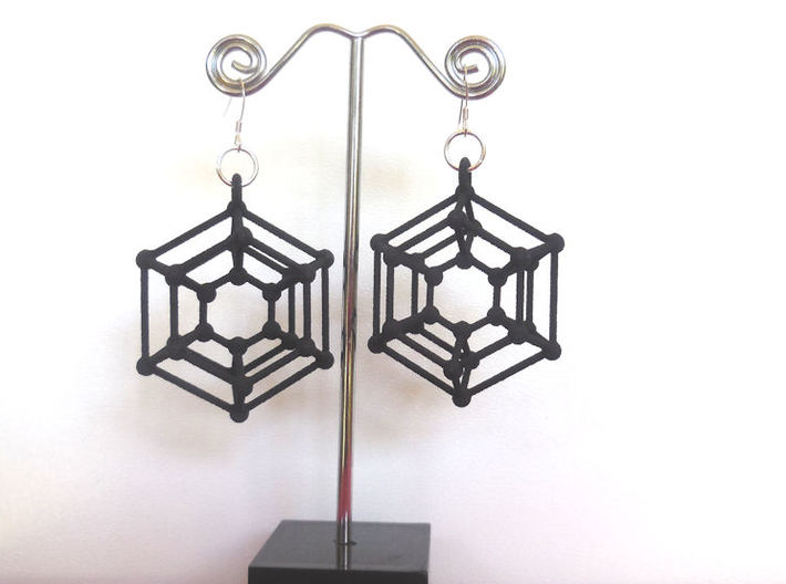 Donutonium Earrings 3d printed