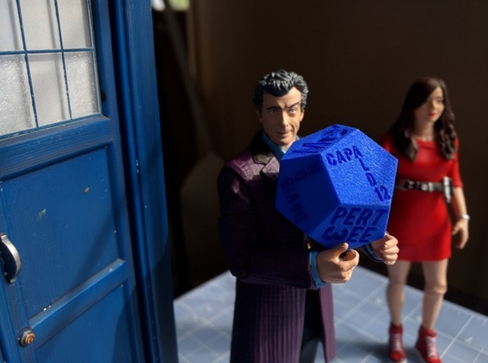 Dodecawhodron 3d printed doctor, clara, and tardis not included