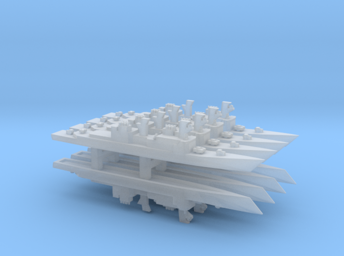 Air Defense Spruance x 8, 1/6000 3d printed