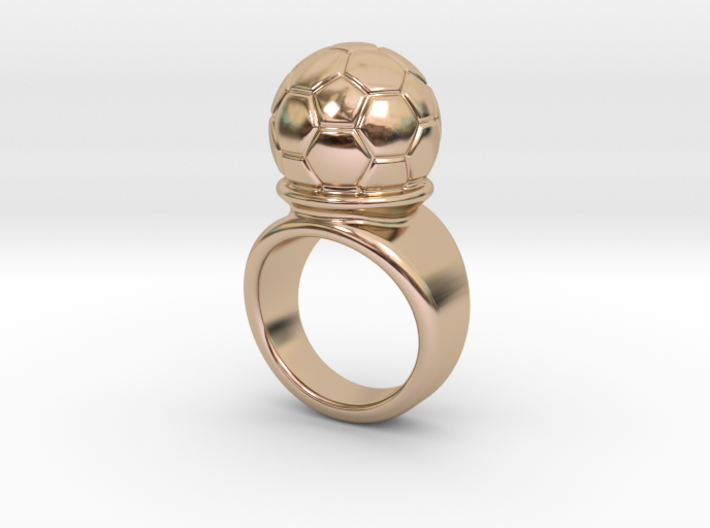 Soccer Ball Ring 24 - Italian Size 24 3d printed