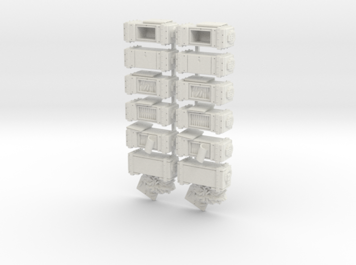 28mm - Ammo Boxes 3d printed